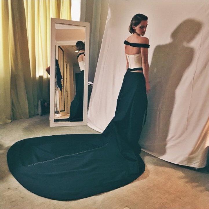 Emma Watson's Recycled Plastic Met Gala Gown 2