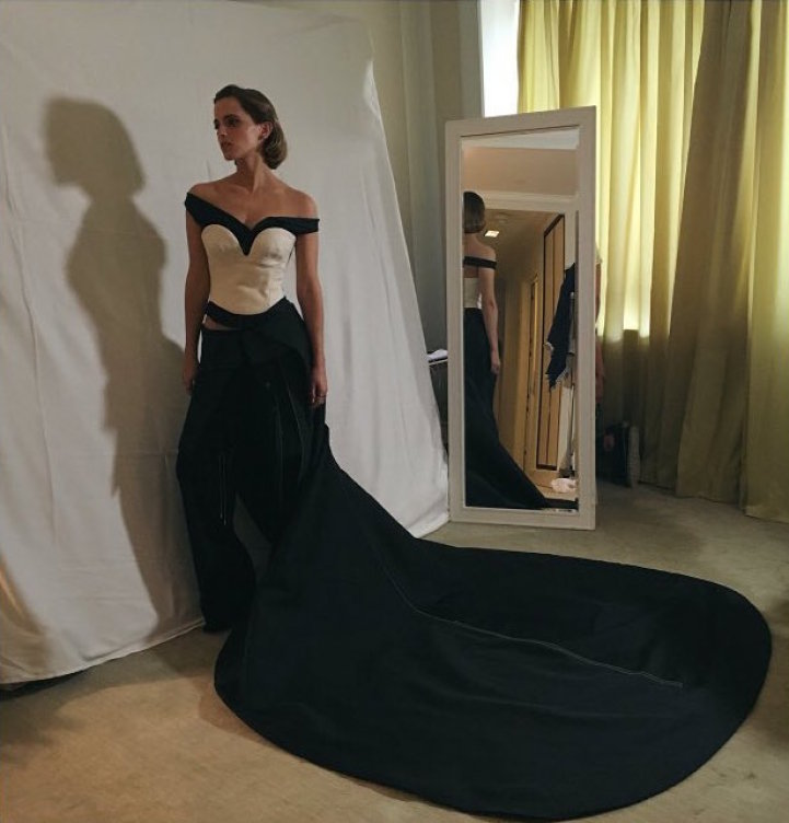 Emma Watson's Recycled Plastic Met Gala Gown 3