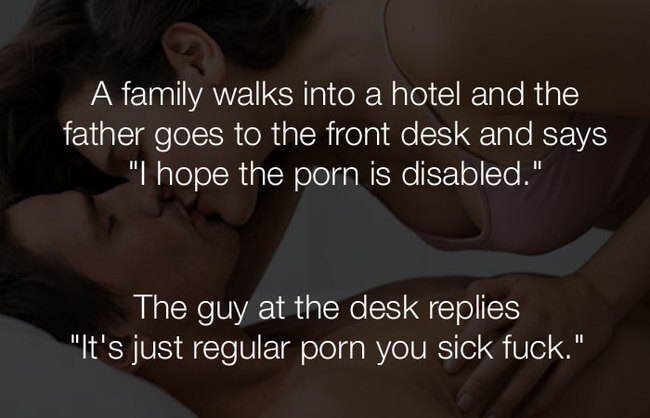 hilarious funny jokes - a family walks into a hotel and the father15
