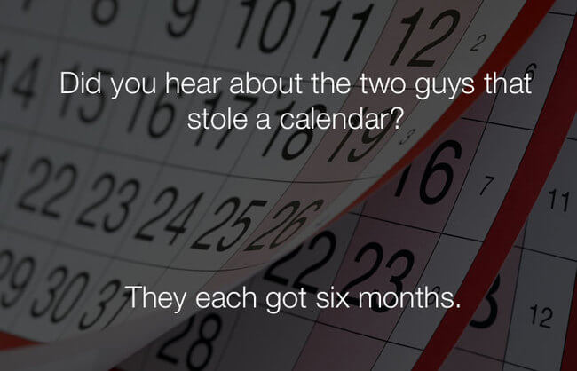 funny jokes - two guys stole a calendar2