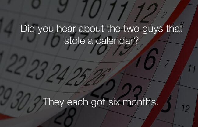 funny jokes - two guys stole a calendar2
