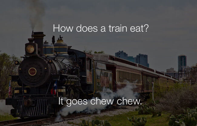 lmao funny jokes - how does a train eat19