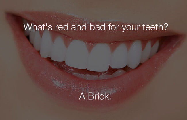 stupid haha jokes - whats red and bad for your teeth 25