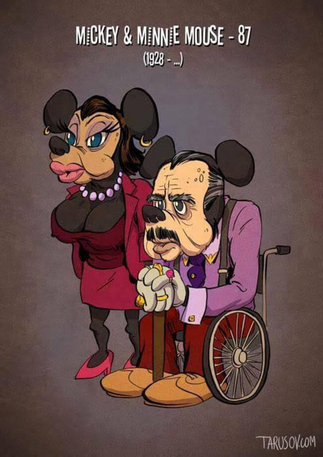 Artist Applied Old Age To Our Favorite Cartoon Characters