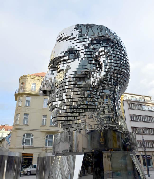 kafka statue prague 4