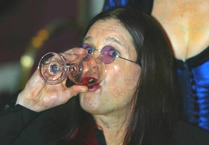ozzy osbourne drinking