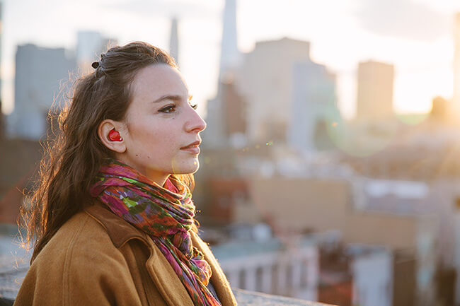 this tiny inear piece can translate foreign languages in