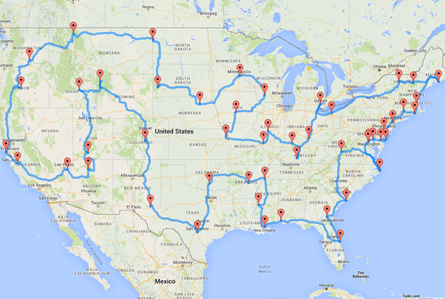 An Algorithm Created The Ultimate Us Road Trip Heres The Map - Us map roads