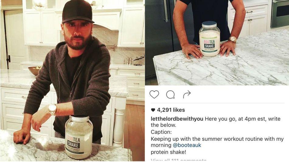 Scott Disick's Failed Sponsored Instagram Post