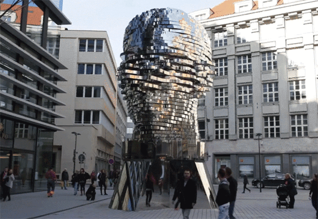 stainless steel sculpture feat