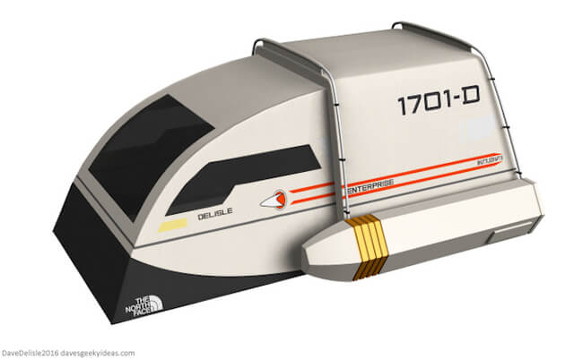 Two-Person Tent Is Playfully Designed as a Star Trek Shuttlecraft 1