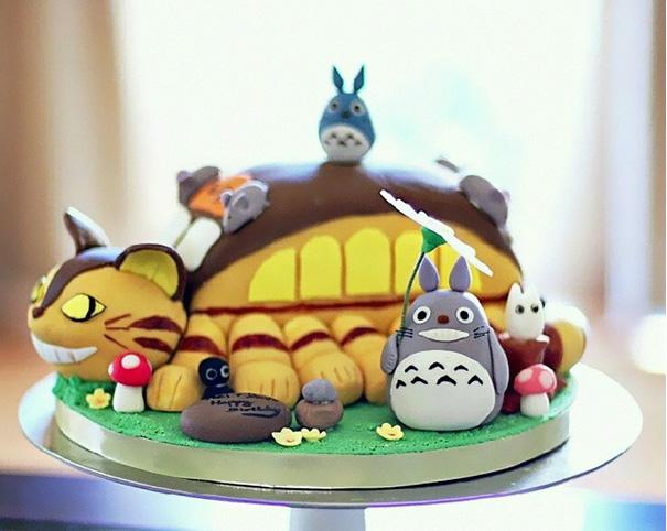 totoro cake 3