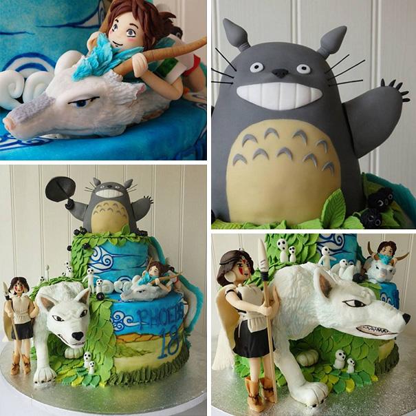 totoro cake 6