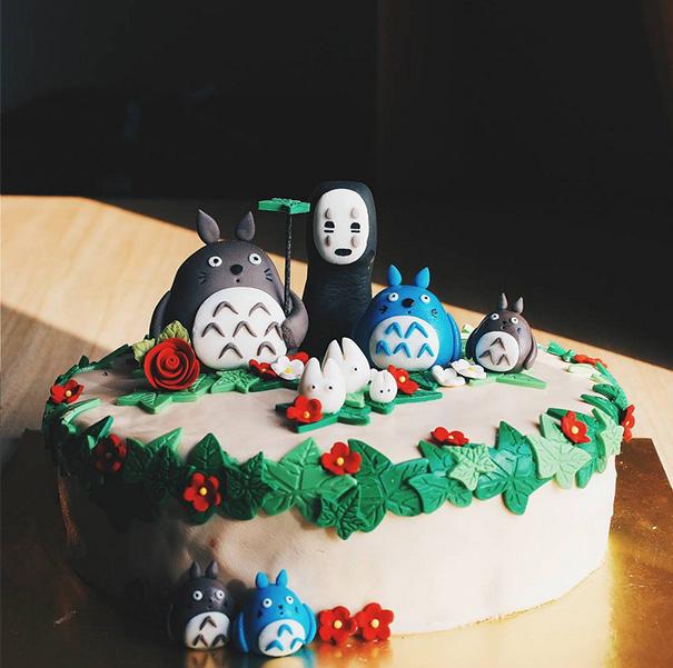 totoro cake 7