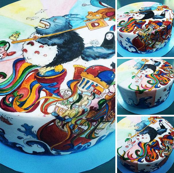 totoro cake 9