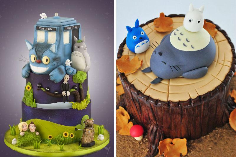 totoro cakes feat