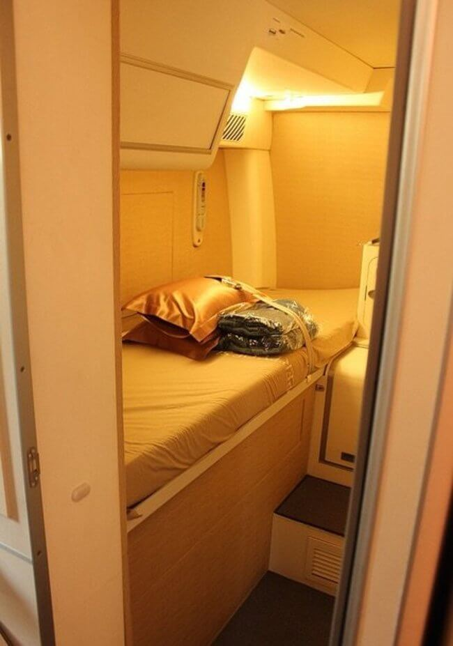 See Inside The Hidden Bedrooms Where Cabin Crew Sleep