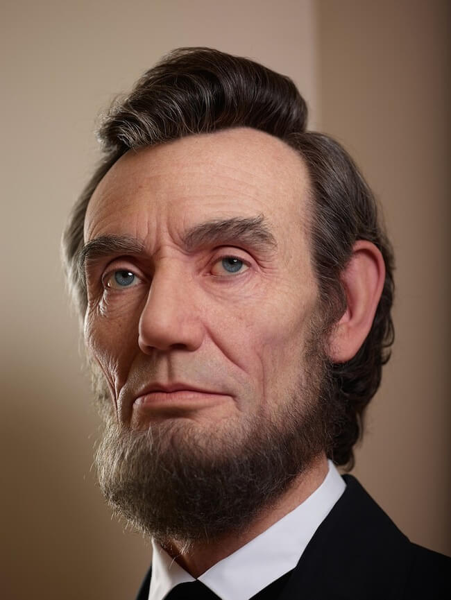 realistic sculpture of abraham lincoln 1