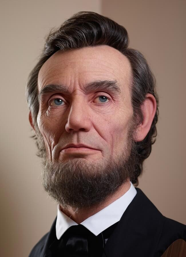 realistic sculpture of abraham lincoln 2