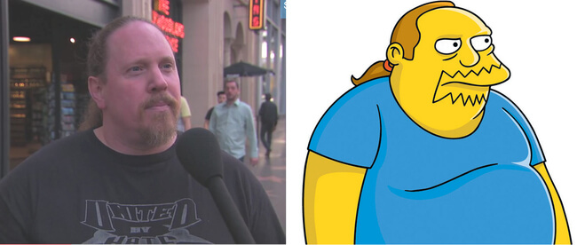 People who look like Simpson characters 2
