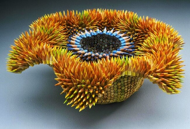 Amazing Sculptures Made From Pencils 7