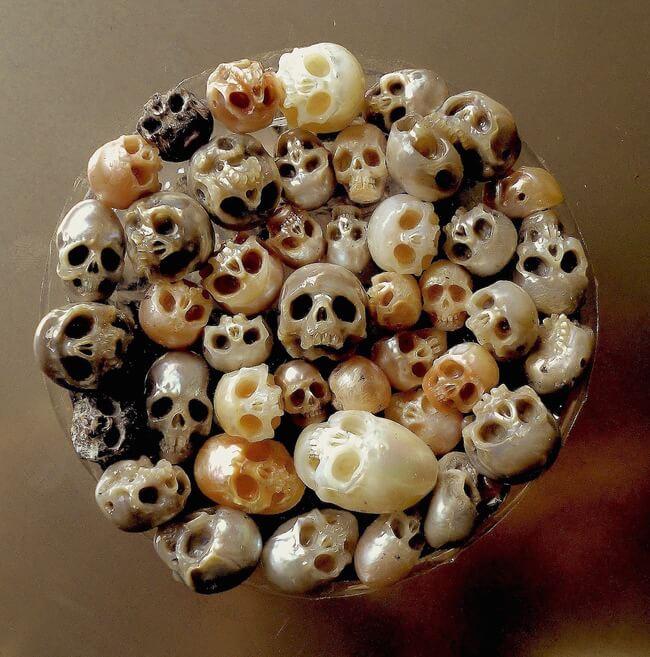 pearl skulls jewelry 6
