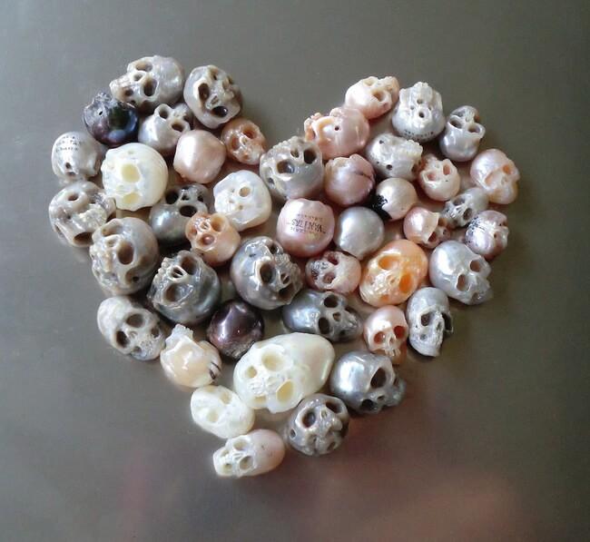 pearl skulls jewelry 4