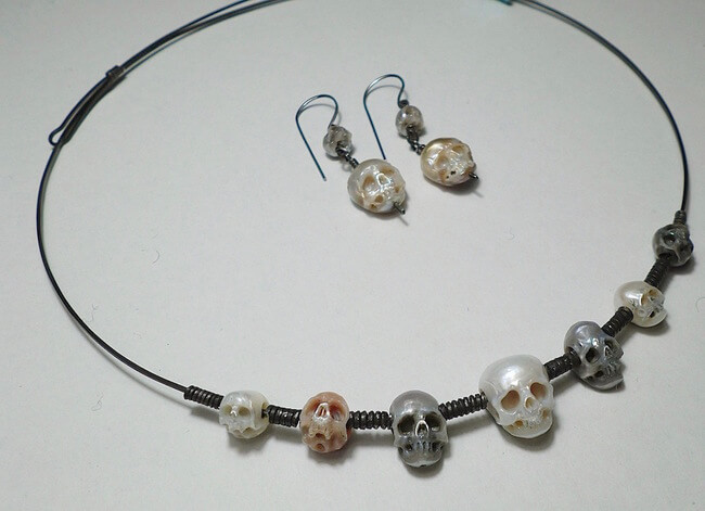 pearl skulls jewelry 2