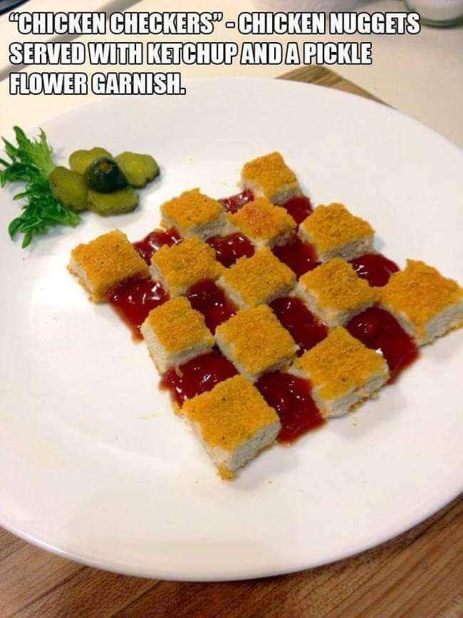 Broke Gourmet Food Plates 10