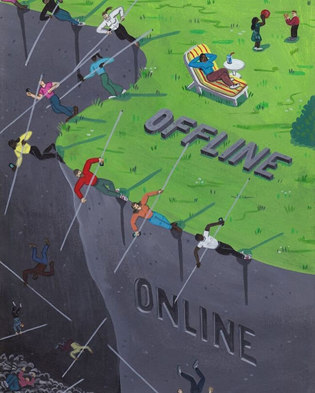 Satirical Illustrations Show How Addicted We Are To Social Media 2