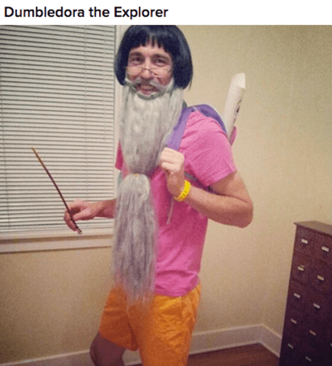 7 Dumbledora the explorer costume  sc 1 st  The Awesome Daily & 26 Costumes That Are So Clever Theyu0027re Actually Funny
