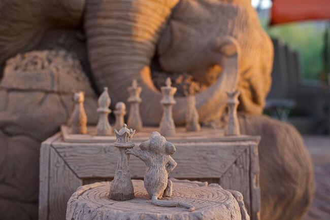 Stunning Sand Sculpture of elephant 3