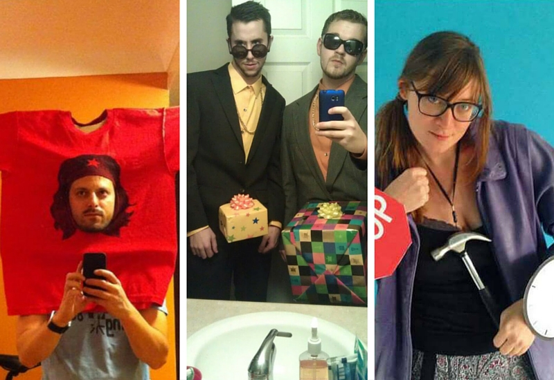 funny costumes feat
