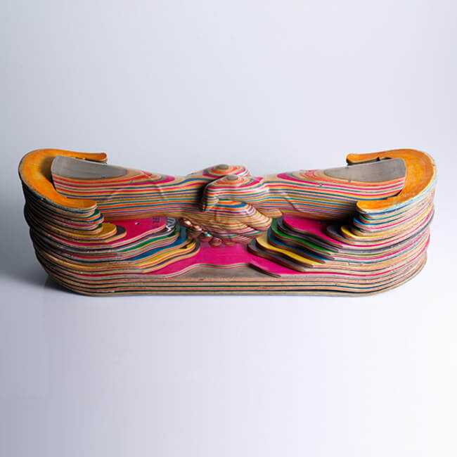 haroshi skateboard sculptures 1