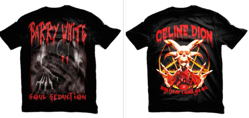 heavy metal t shirts feat