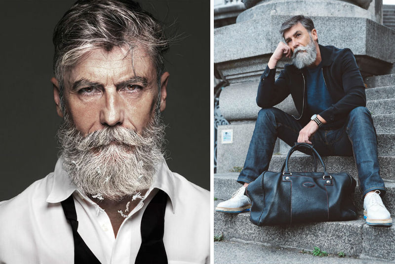 hipster model 60 years old