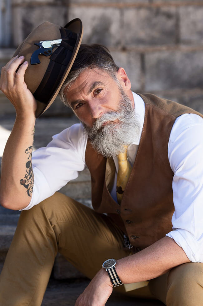 60 year old man becomes model after growing a beard 2