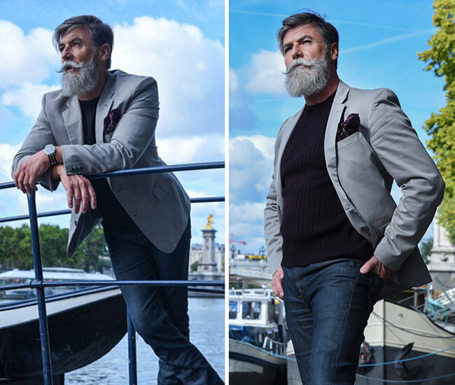 60 year old man becomes model after growing a beard 7