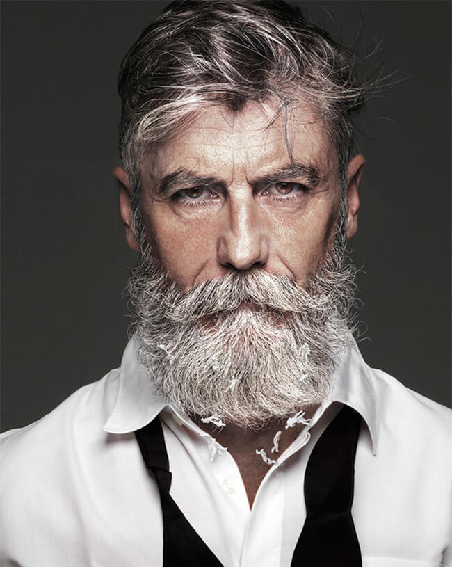 60 year old man becomes model after growing a beard 1