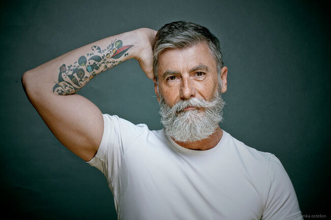60 year old man becomes model after growing a beard 6