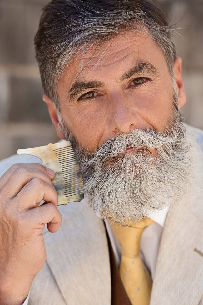 60 year old man becomes model after growing a beard 9