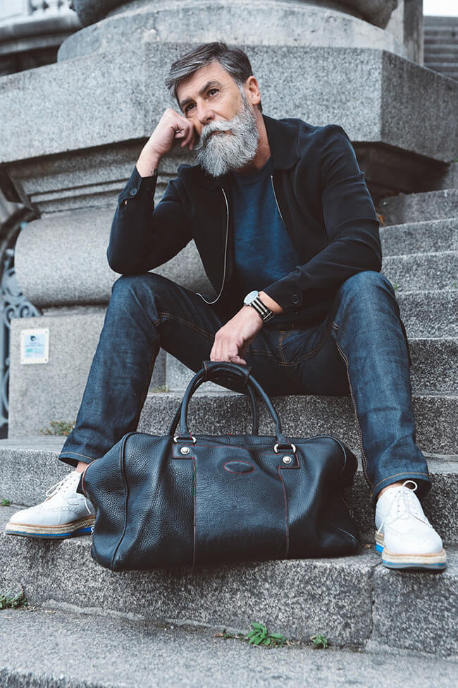 60 year old man becomes model after growing a beard 4