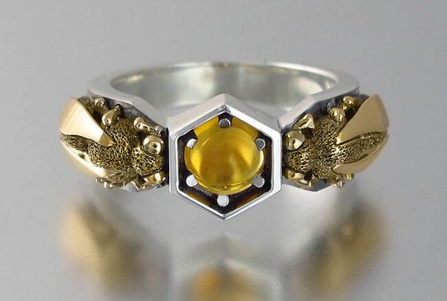 lion honeycomb jewelry 7