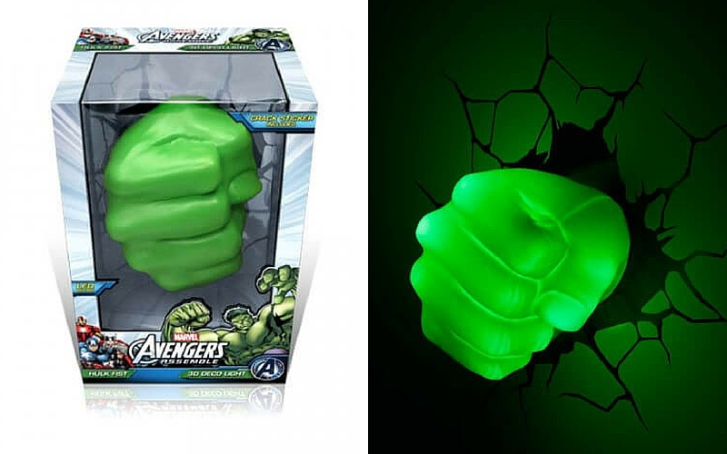 hulk fist 3d deco lamp feat