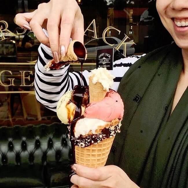 Ice Cream Cone Topped With More Miniature Ice Cream Cones 6