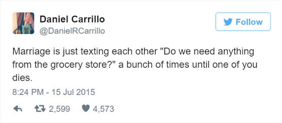 married people tweets