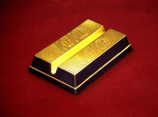 24 Karat Gold Kit-Kat Bar 2