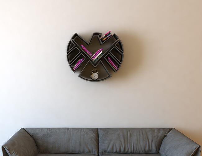 Superhero Bookshelves By Burak Doğan 7