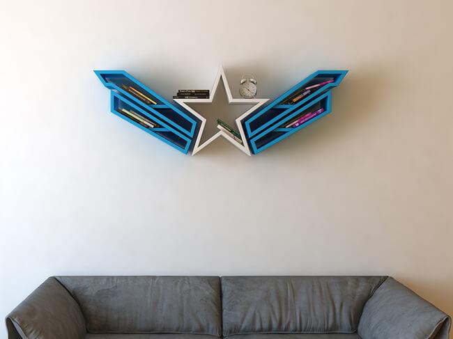 Superhero Bookshelves By Burak Doğan 4