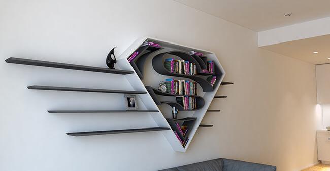 Superhero Bookshelves By Burak Doğan 2